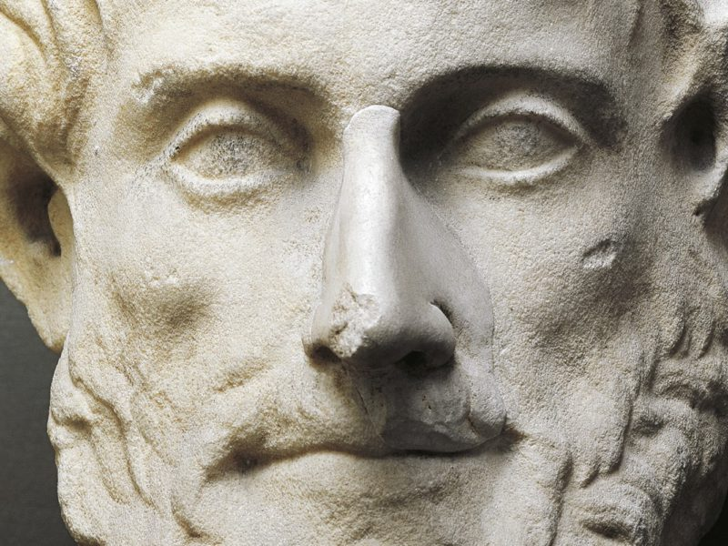 Bust of Aristotle (Stagira, circa 384 - Chalcis, 322 BC), Greek philosopher and scientist