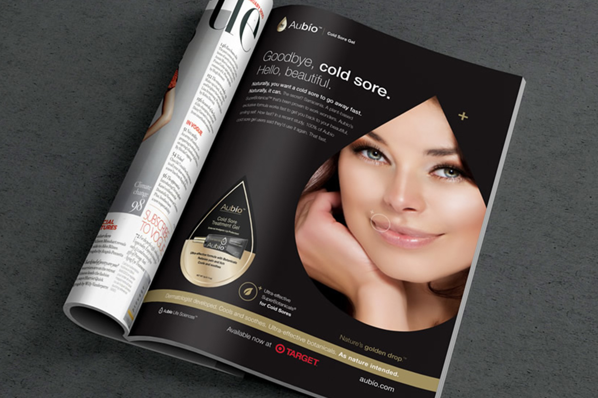 Aubio Cold Sore Gel Advertising Campaign