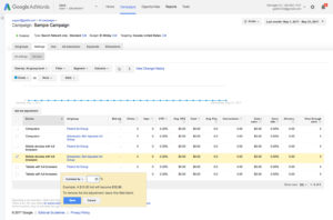 Setting up Bid Adjustments for Ad Groups in Google AdWords with Automated Rules